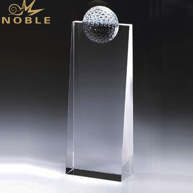 Wholesale Engraving Golf Trophy Optical K9 Crystal Award Plaques