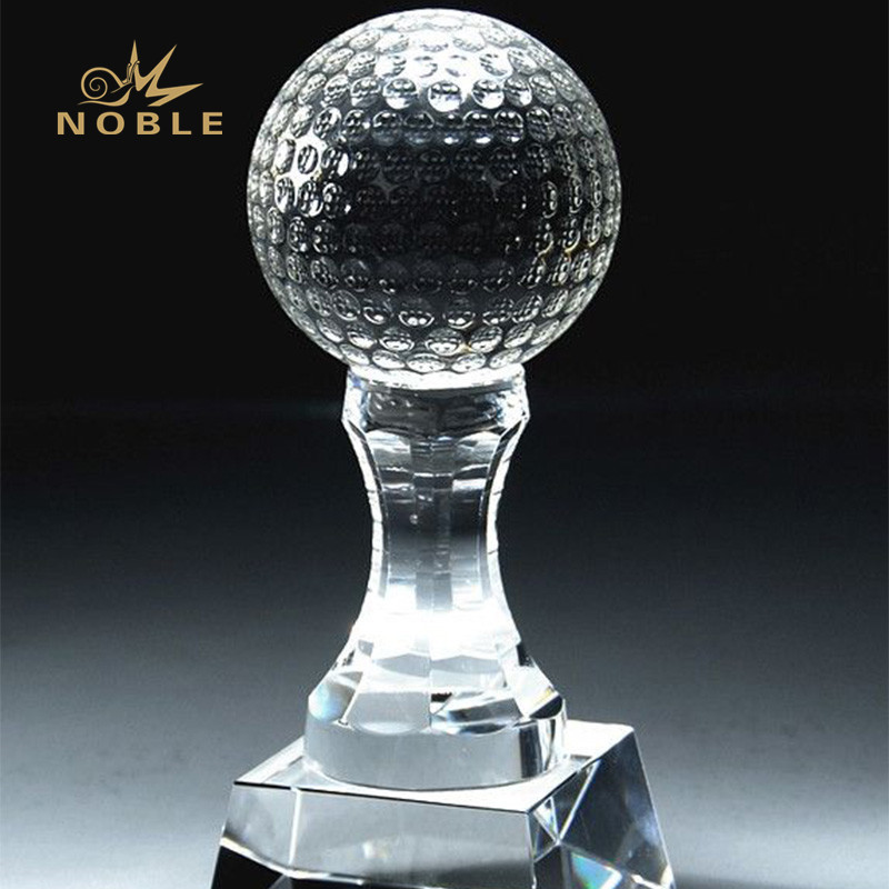Custom free engrave crystal golf award