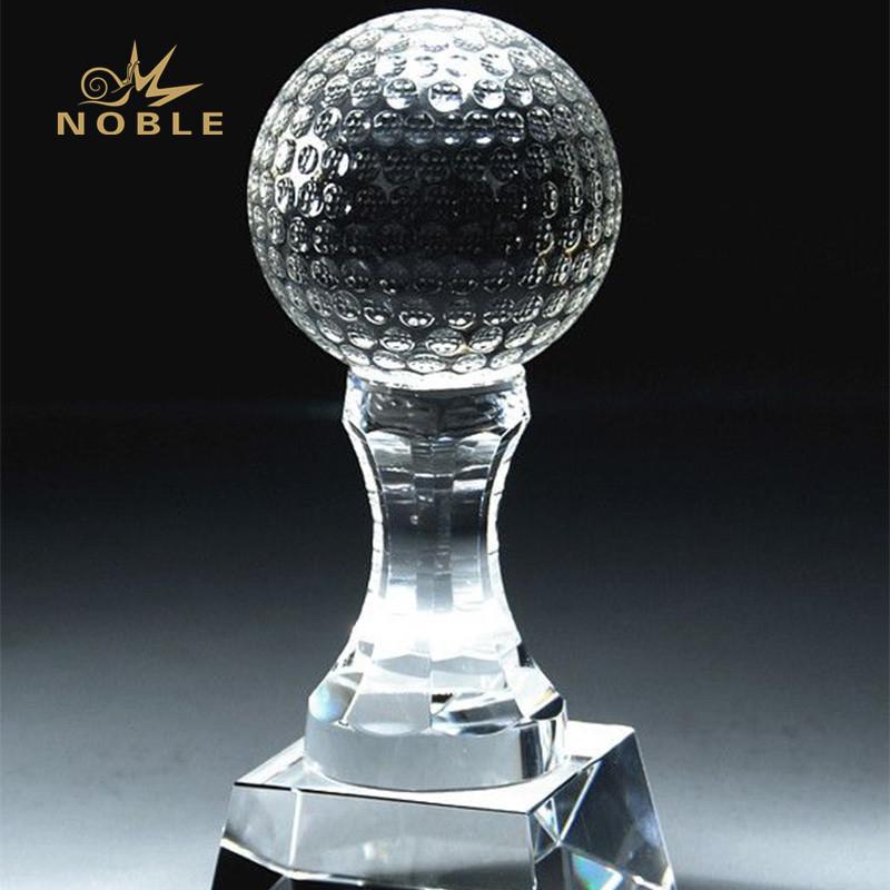 Custom free engrave crystal golf award