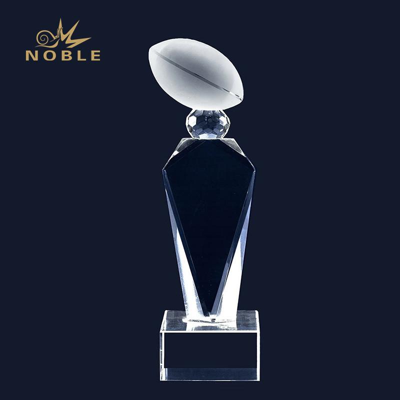 High Quality Custom American Football Crystal Award