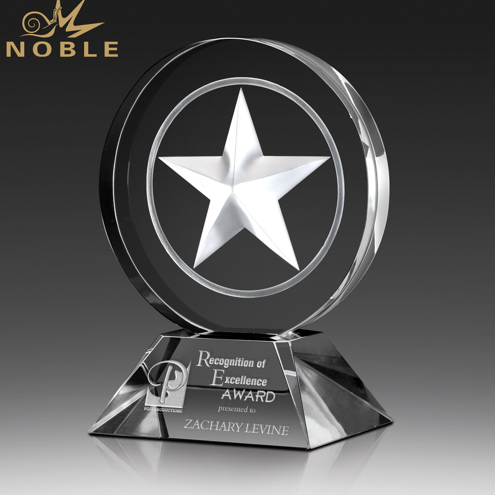 K9 Optical Crystal Star Customized Logo For Awards Crystal