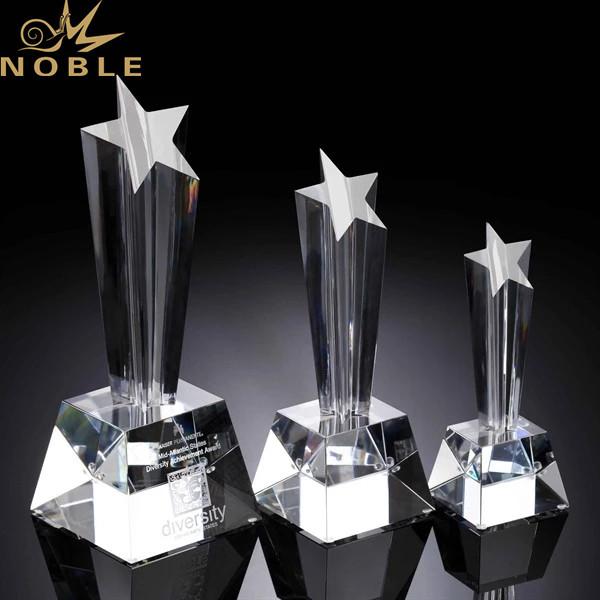 Best Seller Crystal Plaque Star Shape Trophy Award