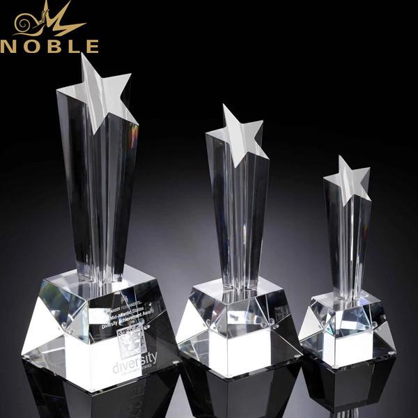 Best Seller Crystal Plaque Star Shape Trophy Award