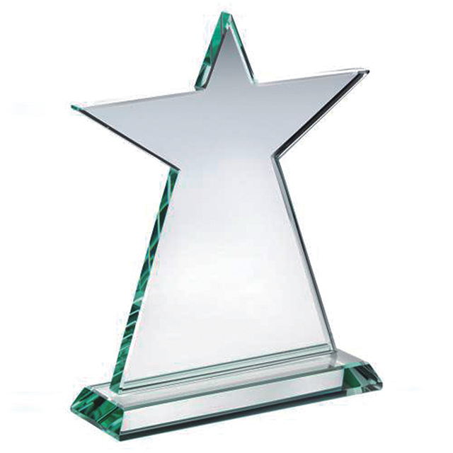 Custom crystal trophy high quality star award