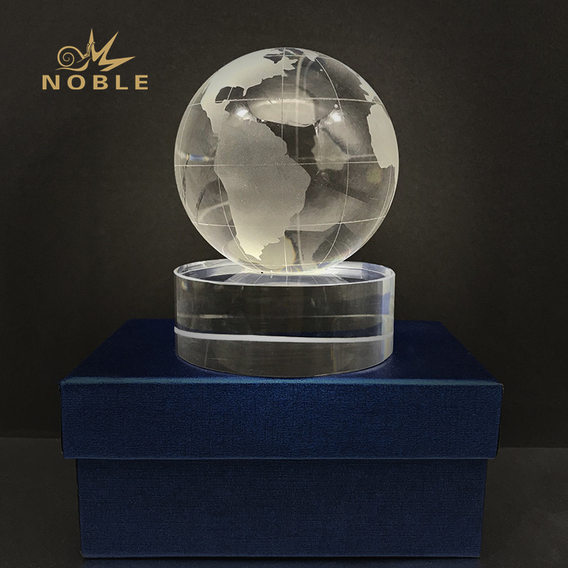 Globe Earth Map Crystal Trophy Awards