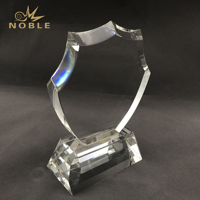 Engraved Crystal Award Crystal Features A Uniquely Shaped Crystal With Beautiful Beveled