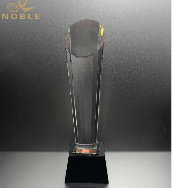Blank Diamond Pillar Crystal Trophies Awards