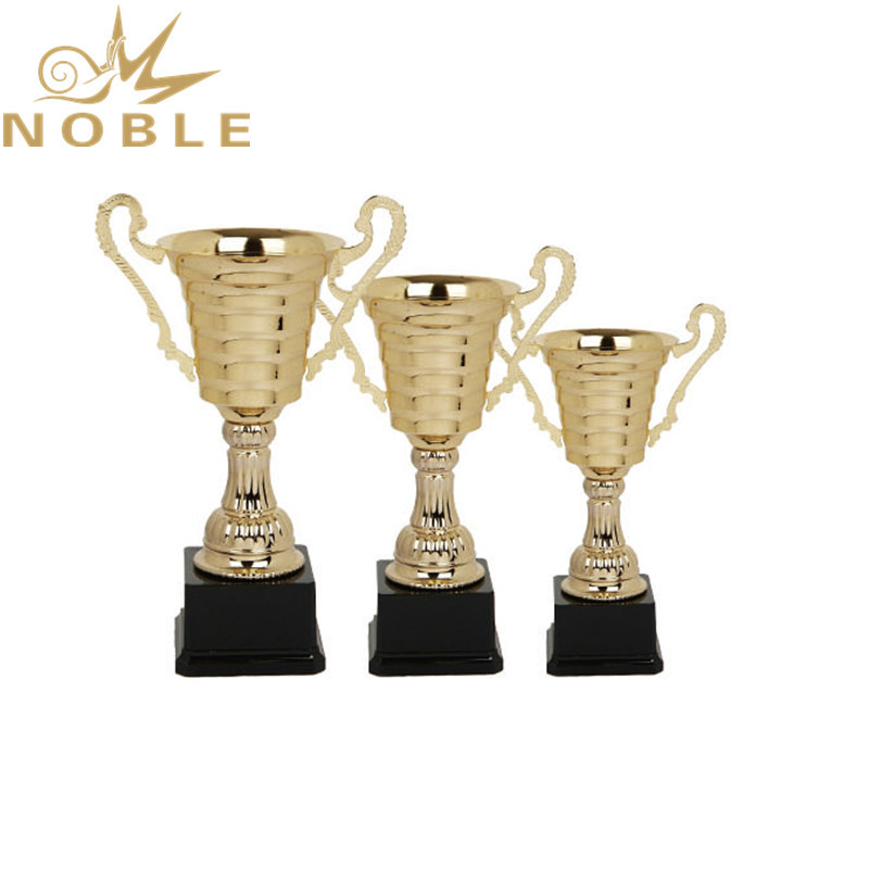 Popular sports championships school trophy custom printing metal cup trophy as gift