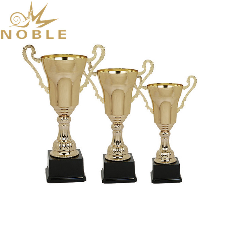 High quality gold metal sports trophy cup trophy with black base