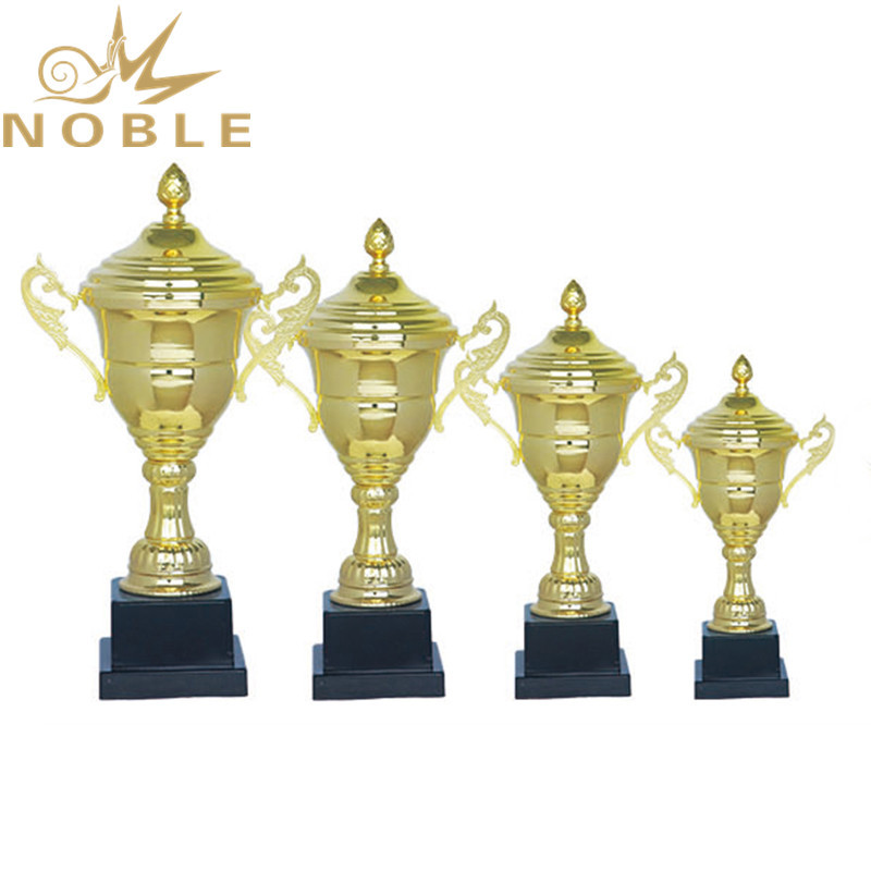 Professional manufacturer free printing logo gold metal sports trophy cup trophy