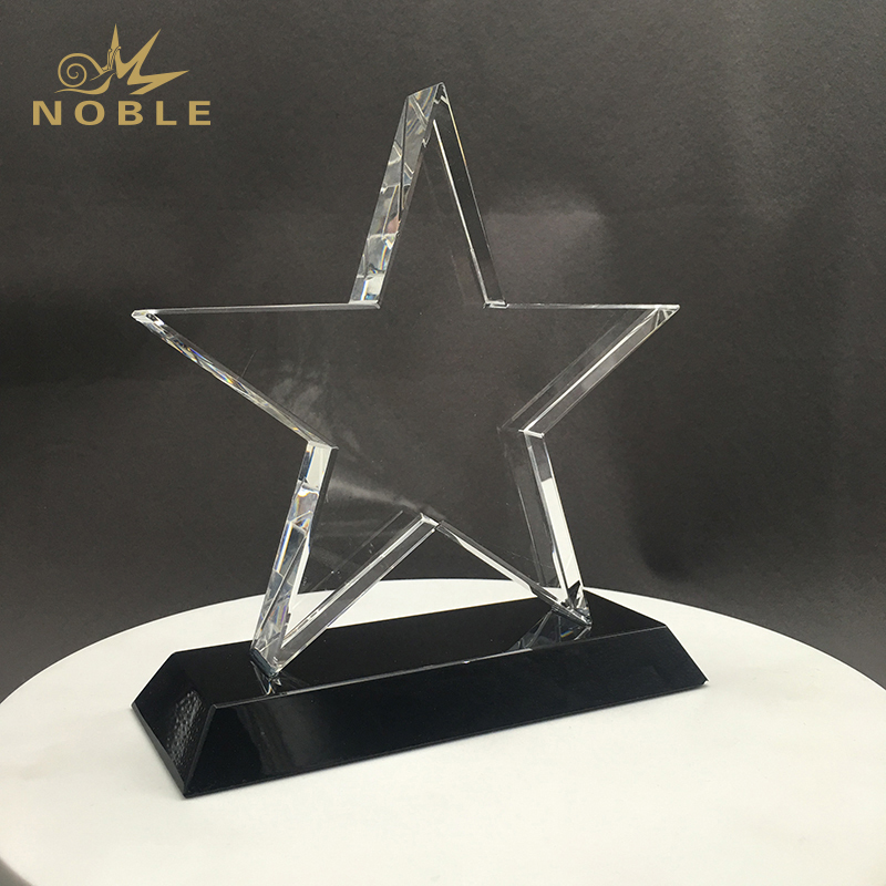 Custom Engraved Trophy Employee Gifts Crystal Star Trophy Awards