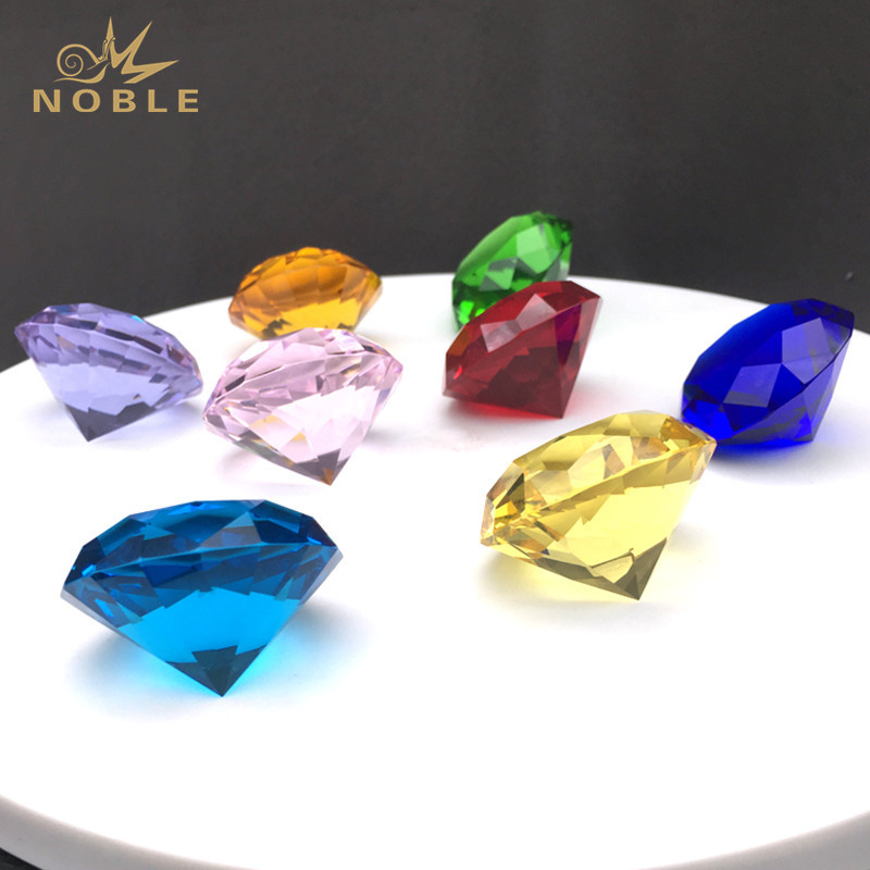 Multi-color Glass Crystal Diamond Paperweights