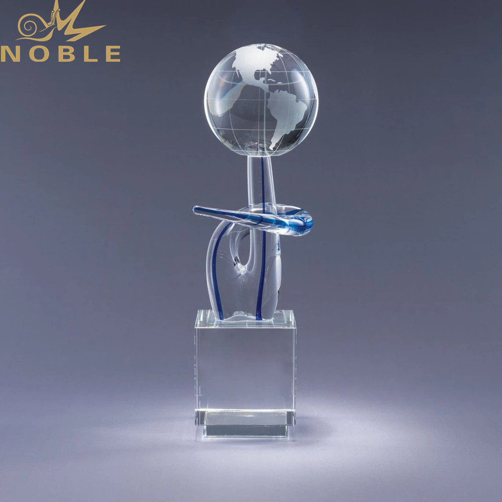 Crystal Globe with Black Base as Exhibition Award