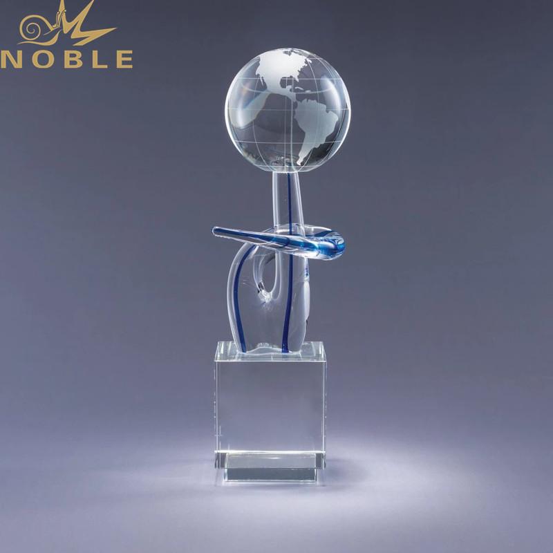 Crystal Globe with Black Base as Exhibition Award
