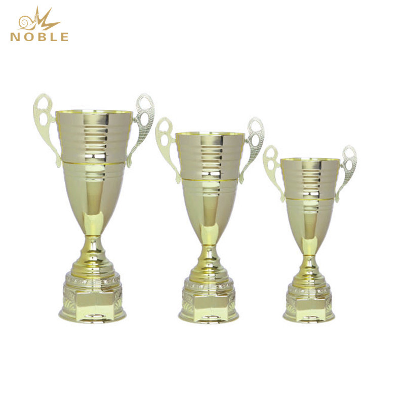 Awards Cup Trophy Silver and Gold Metal Cup Corporate Award Engraved Plate on Request