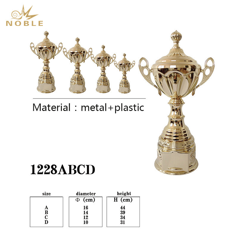 Decade Awards Cup Trophy Gold Metal Corporate Cup Award  Engraved Plate on Request