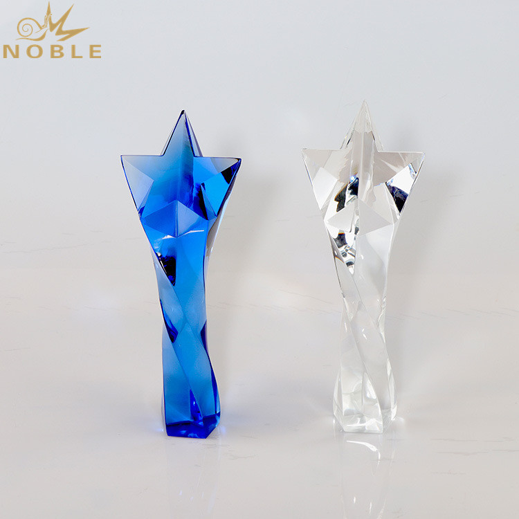 High Quality Crystal Star Trophy Awards For Souvenirs
