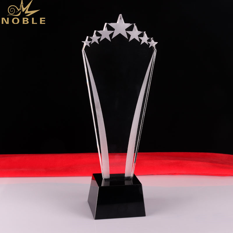 Star Shape Business Crystal Award Plaque