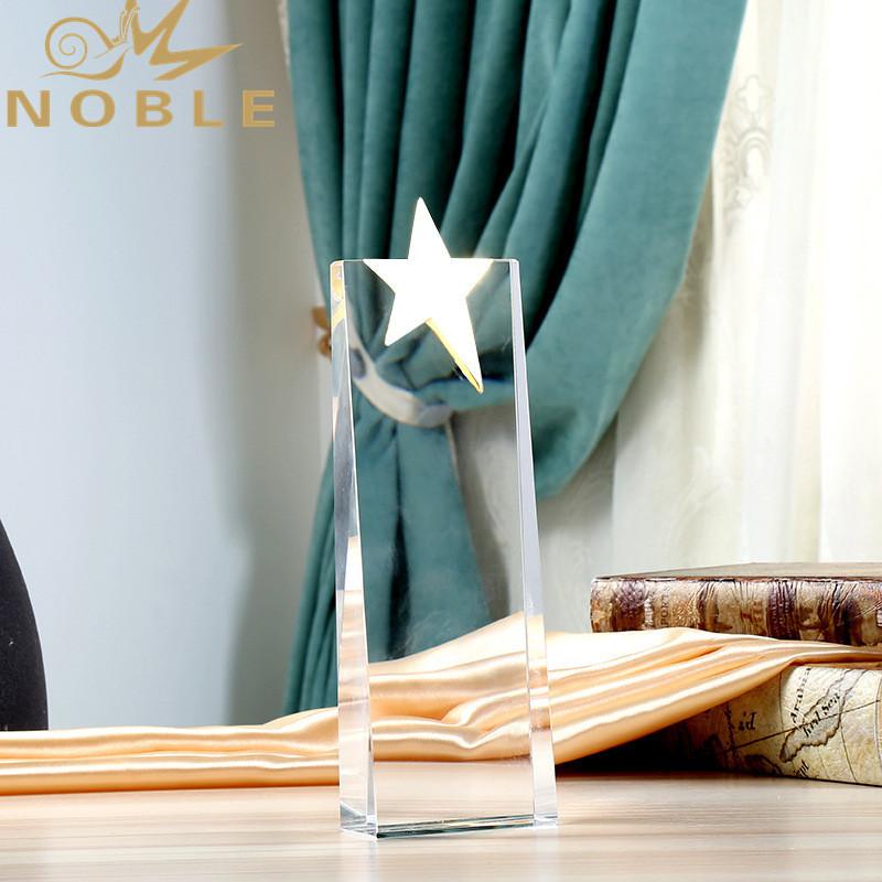 Custom Star Shape Trophy Crystal Glass Stars Awards Souvenir Gift