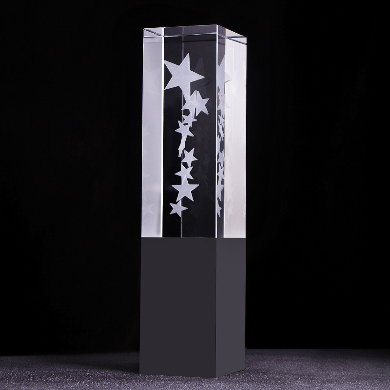 Clear Optic Crystal Star Trophy Crafts Awards