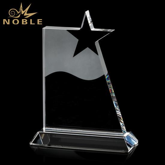 New Design Crystal Award Star Trophy