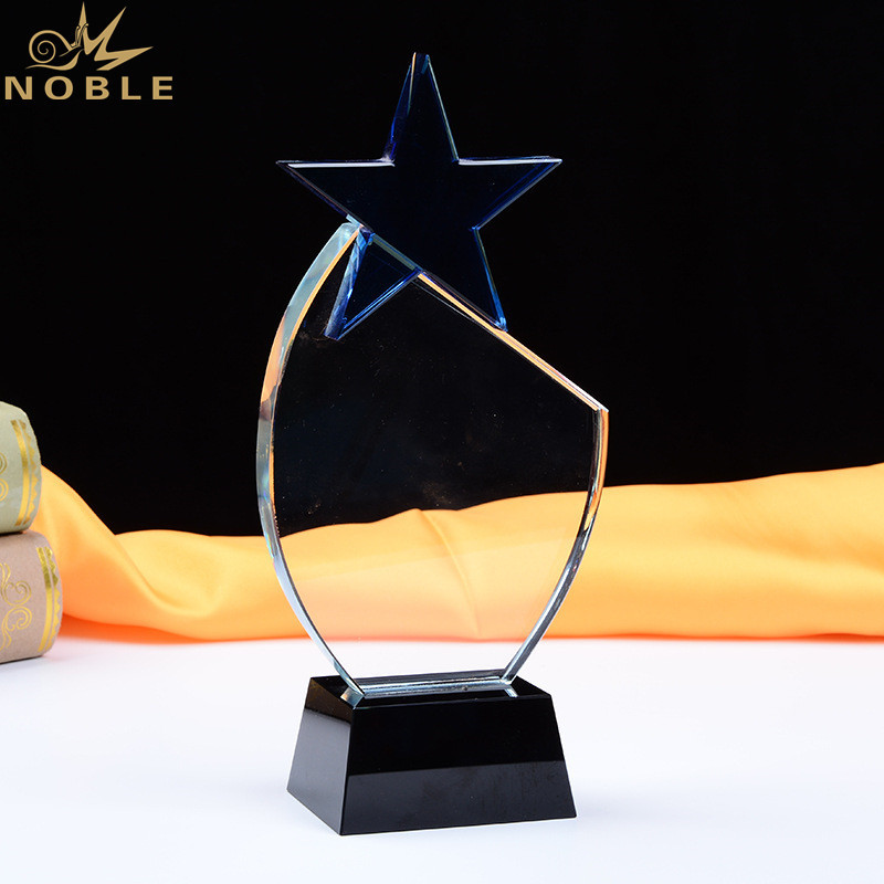 K9 Crystal Star Award Craft Customize Logo Star Shape Crystal