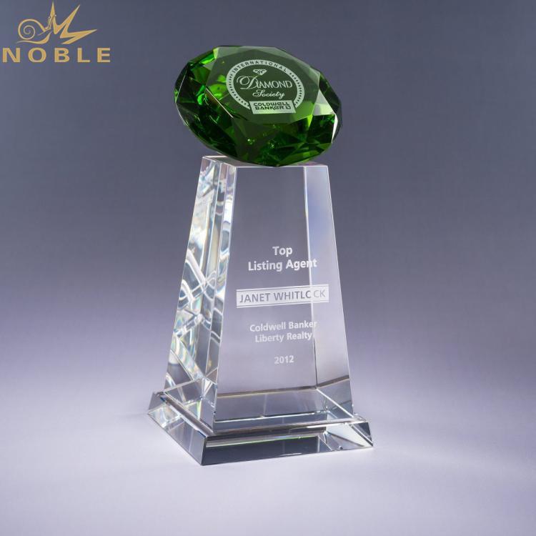 Hot Logo Engraved K9 Crystal Diamond Award Trophy For VIP Customer
