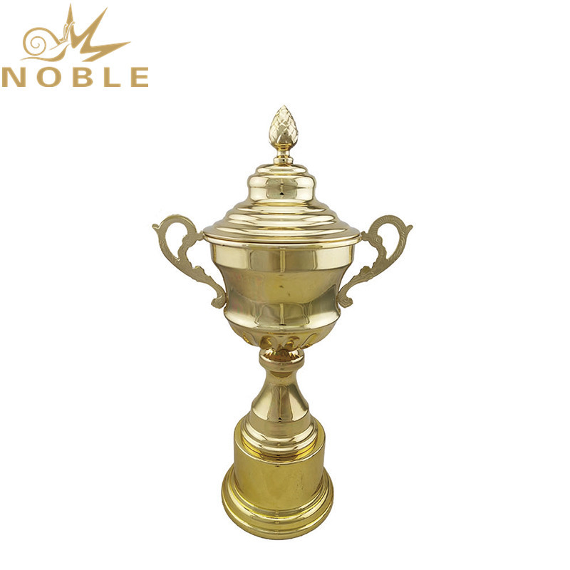 High quality Shiny Gold Metal Cup Trophy for sports Events