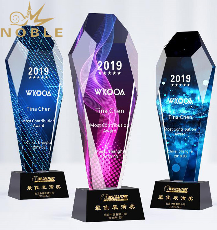 High Quality Custom Color Printing Crystal Award Trophy