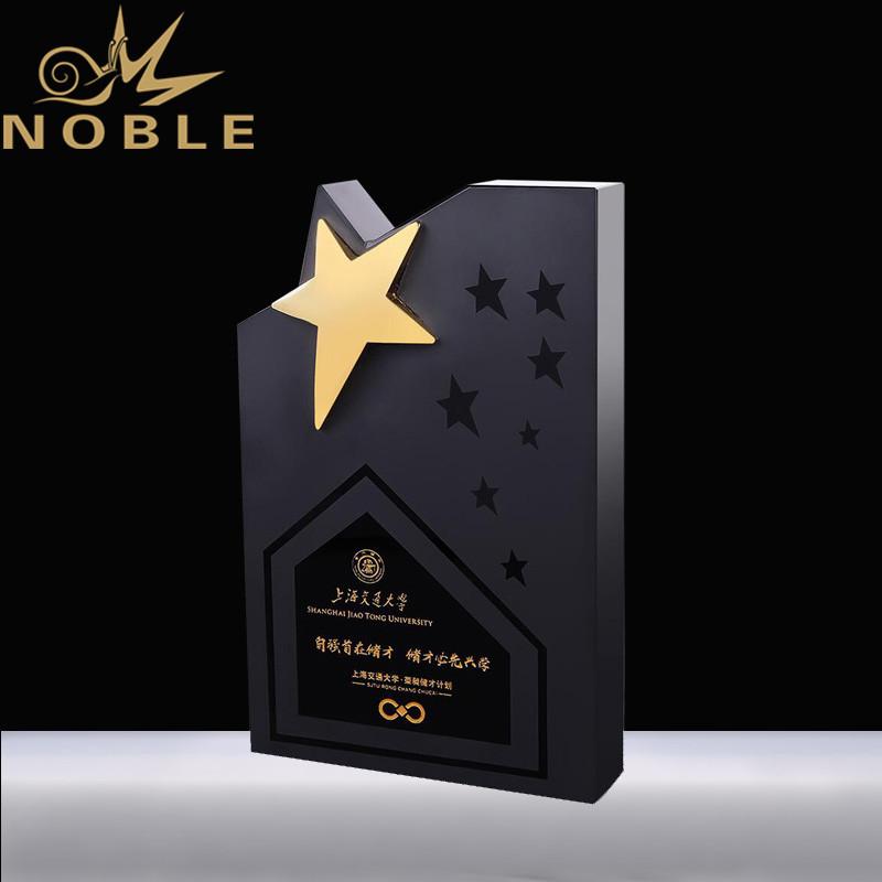 High Quality Custom Black Crystal Star Trophy