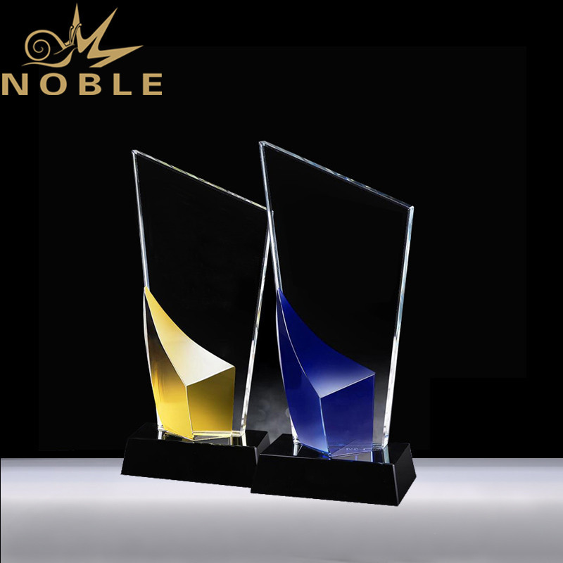 Free Engraving New Design Color Crystal Plaque Trophy