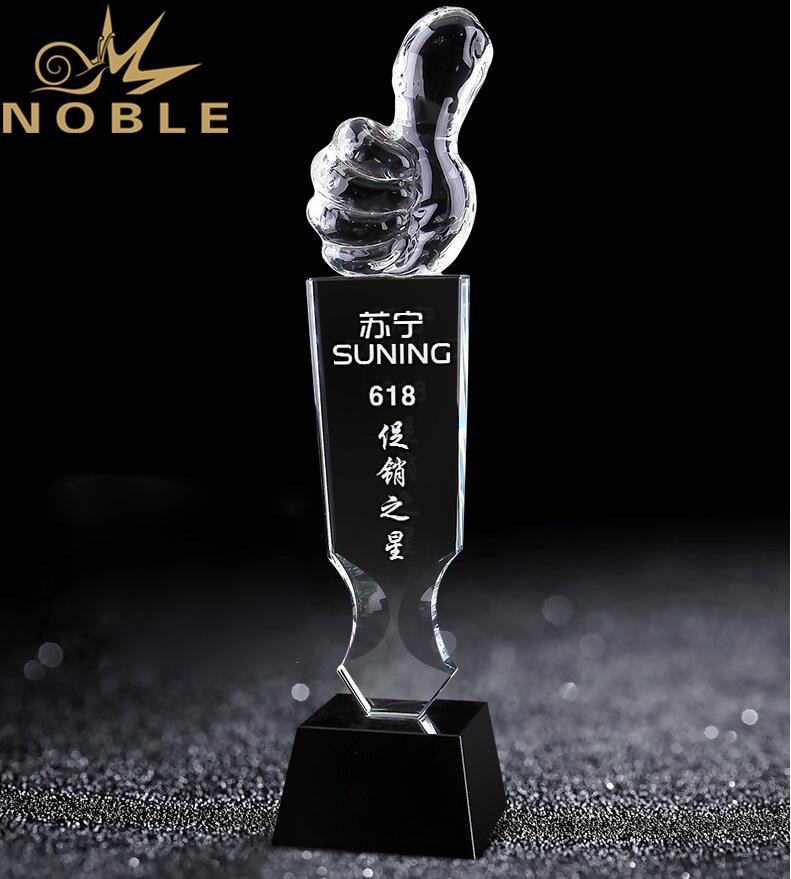 Noble Custom Free Engraving Crystal Award Trophy for Outstanding Player