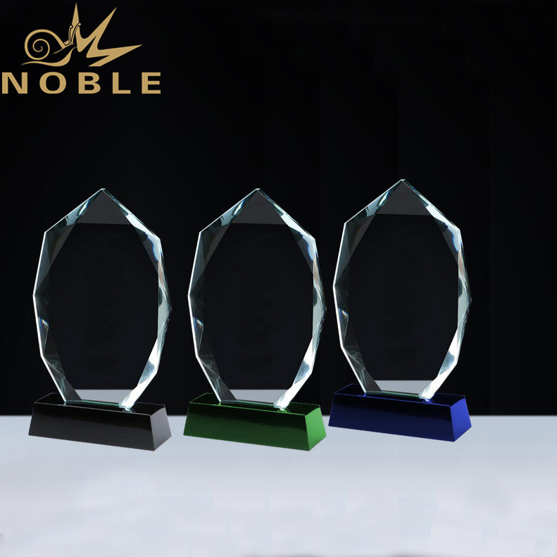 Noble Custom Free Engraving Diamond Cutting Crystal Plaque Award