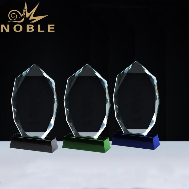 Noble Custom Free Engraving Diamond Cutting Crystal Plaque Award