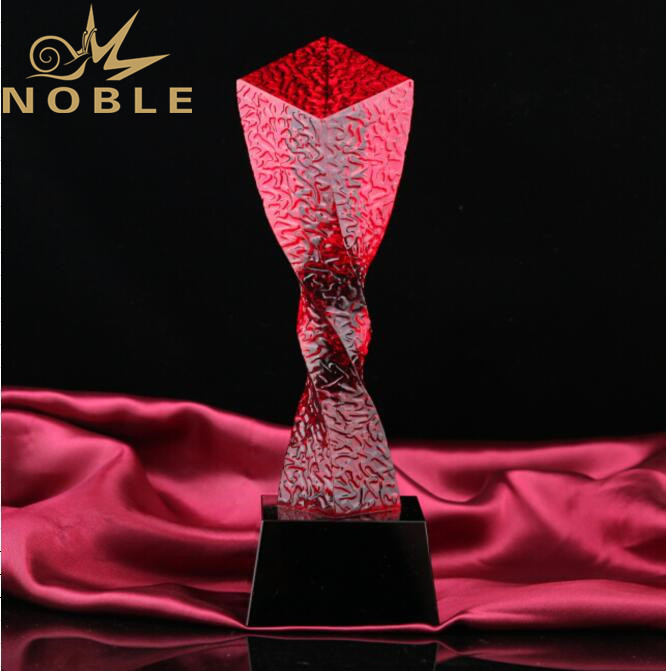 New Design Red Crystal Award Trophy