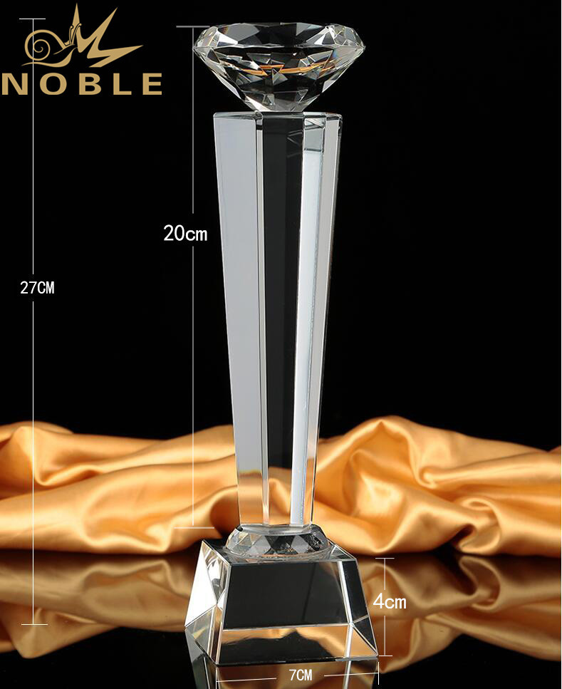Hot Selling Custom Engraving Crystal Diamond Trophy