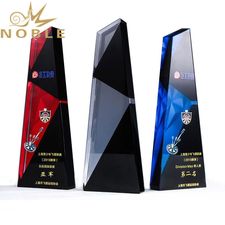 Noble High Quality Custom Black Crystal Plaque