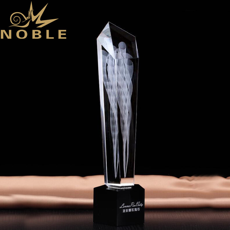 Noble High Quality Custom 3d Laser Engraving Crystal Trophy