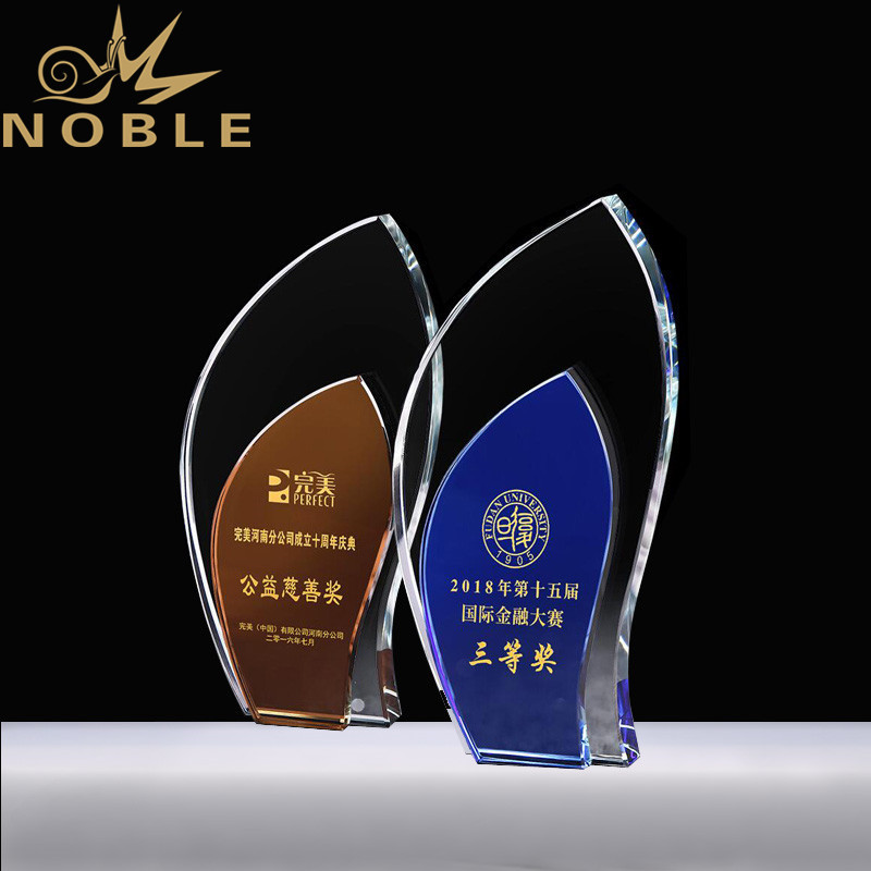 Custom Design Crystal Plaque Award with Free Engraving