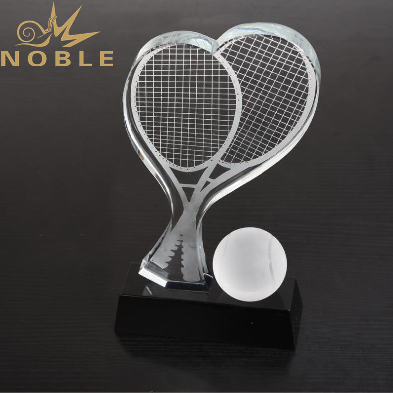 Noble Custom Design Crystal Tennis Trophy Sports Award