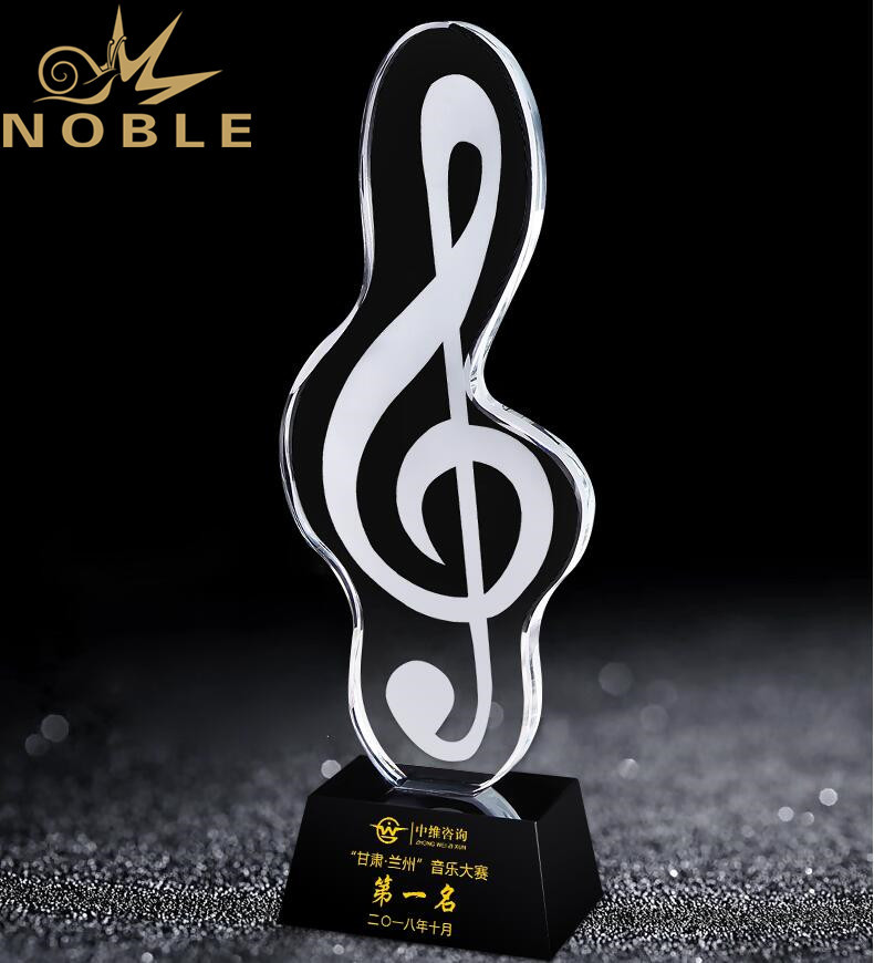 Noble New Design Free Engraving Crystal Music Award