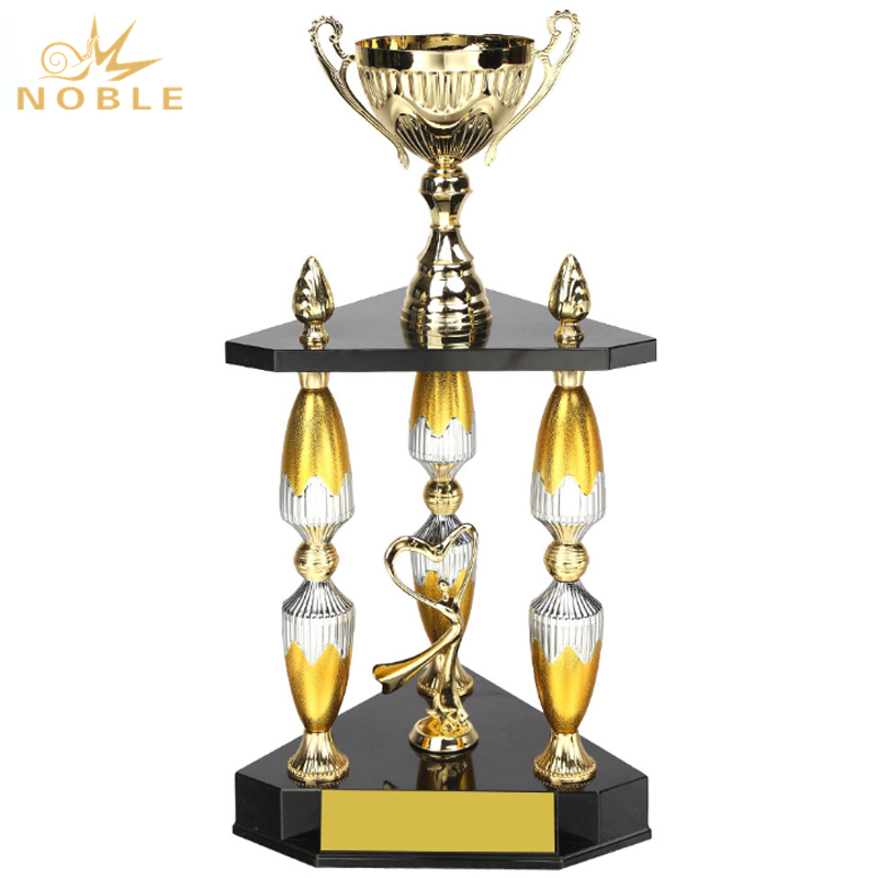 Large Metal Trophy for Dance Championship