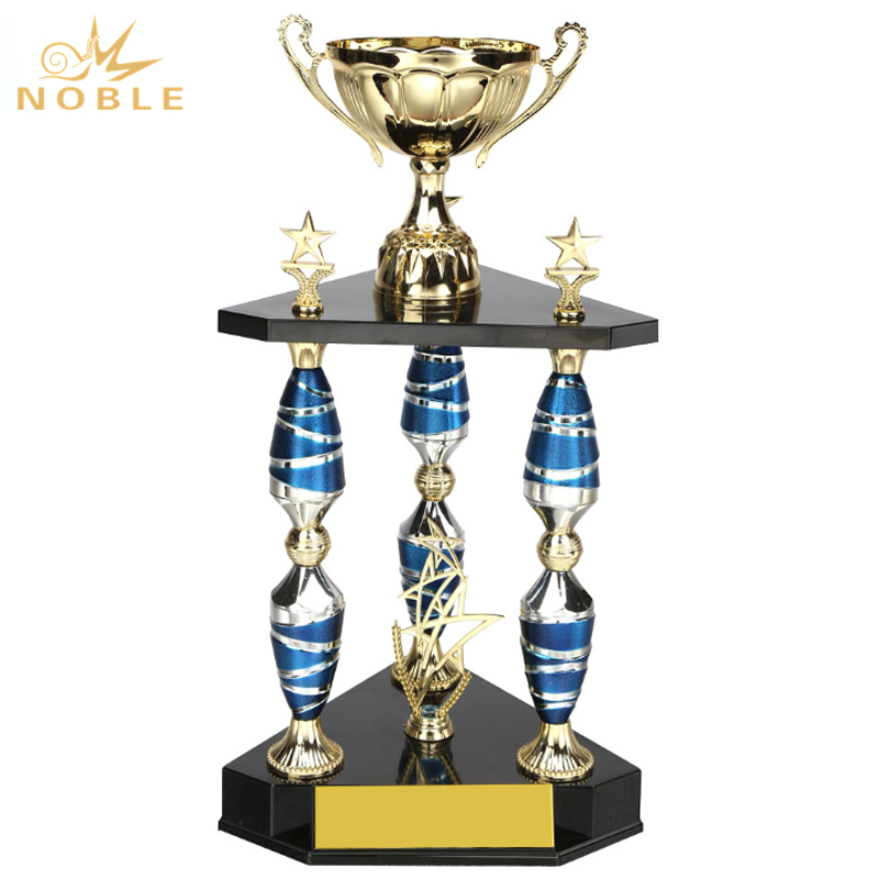 Blue Pillar New Design Custom Metal Large Award