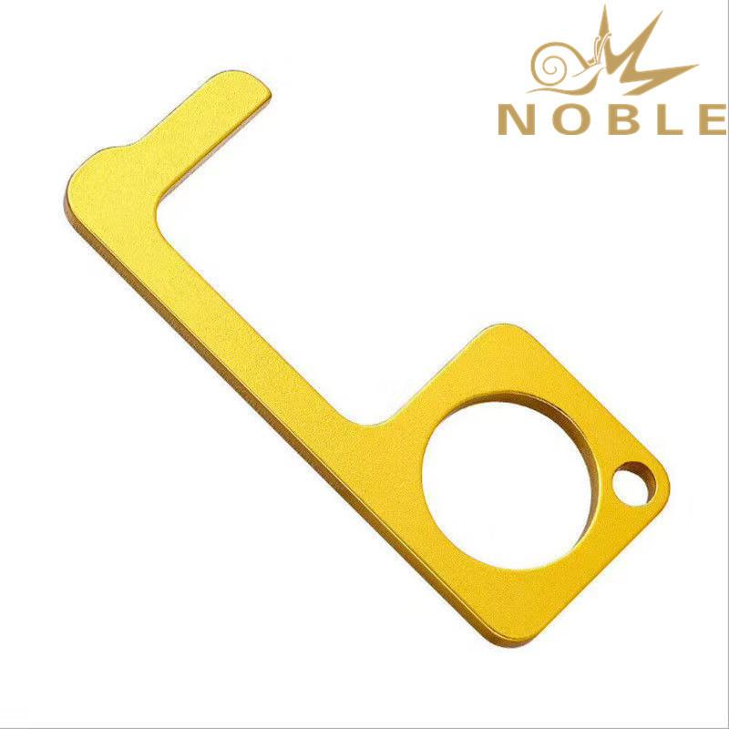 New Design Custom Zinc Alloy Keychain Door Opener Screen Touch Bottle Opener Multi-functional Contactless Tool