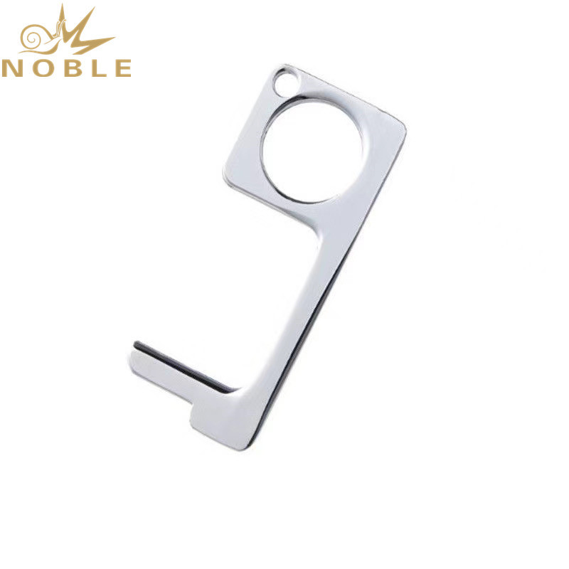 New Design Custom Zinc Alloy Keychain Door Opener Screen Touch Bottle Opener Multi-functional Contactless Tool
