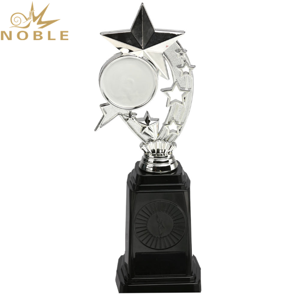 New Design Plastic Star Award with Your Logo Printed on Base