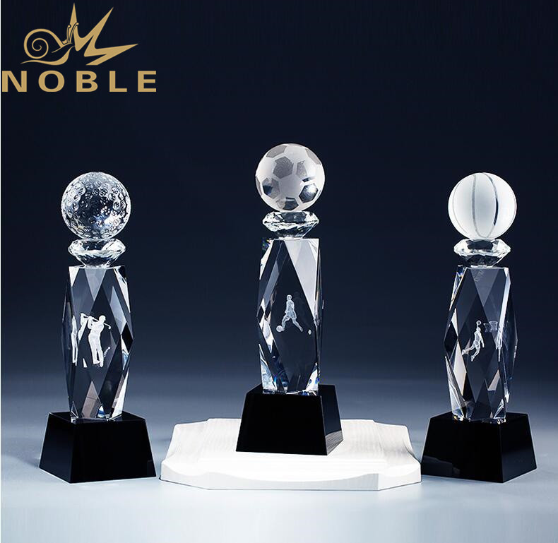 Custom 3d Laser Engraving Crystal Sports Trophy