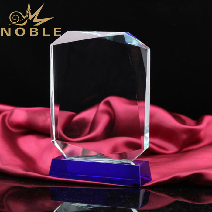 Noble Square Cutting Faced Top K9 Quality Crystal Plaque Award
