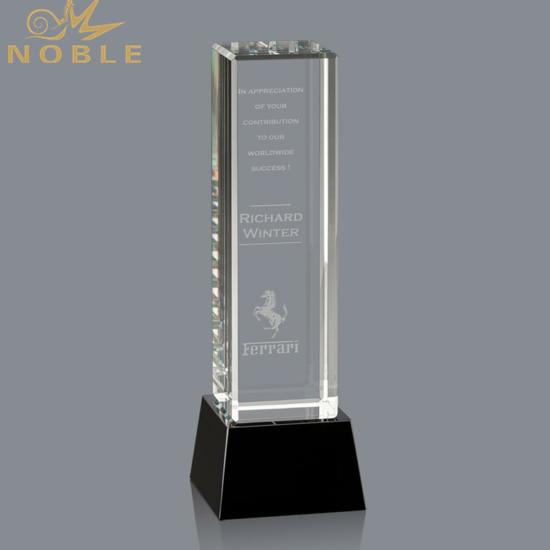 3D Laser Engraving Custom Crystal Cube Tower Award