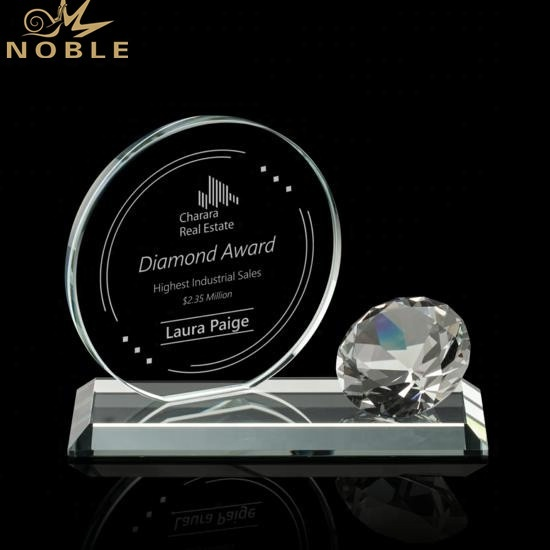 Noble New Design Custom Diamond Crystal Trophy Award